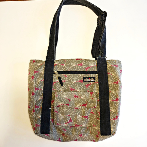9b8a11ffbdd Kavu Bags   Shell Greenpink 2 Strap Shoulder Bag   Poshmark